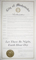 Earth Hour Proclamation from Mishawaka