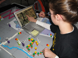 Student matches Google Earth data to LEGO model