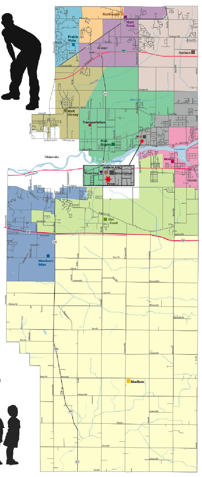 Map of PHM School Boundaries